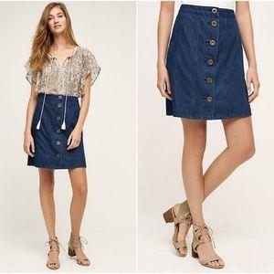 Pilcro Anthropologie Button-Front Denim Skirt